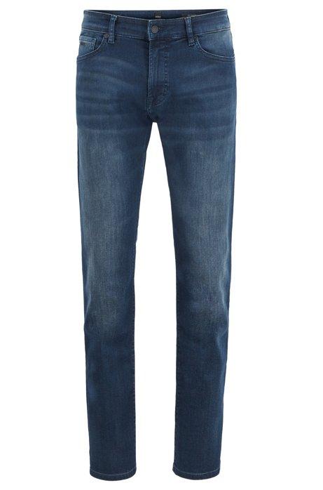 Regular-fit jeans van blauwzwart super-stretchdenim, Donkerblauw