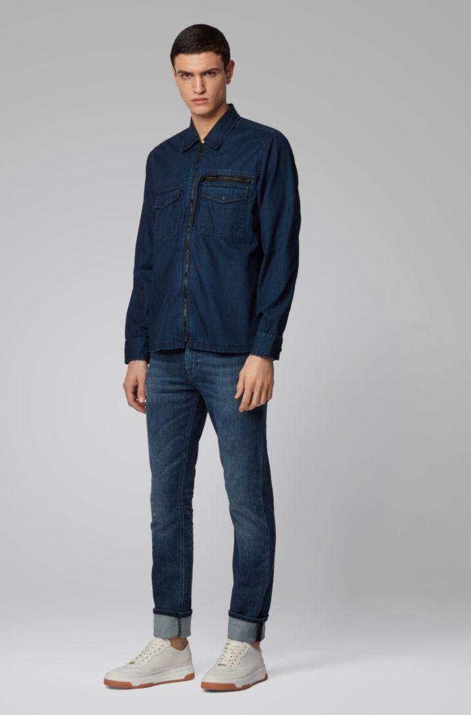 Slim-Fit Jeans aus gestricktem Stretch-Denim