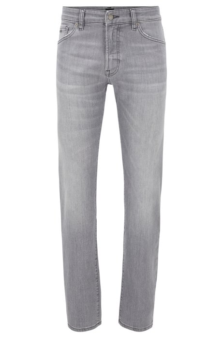 Regular-fit jeans in grey super-stretch denim, Grey