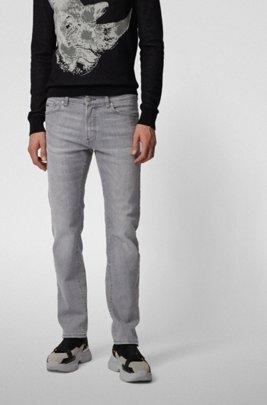 Regular-Fit Jeans aus Super-Stretch-Denim, Grau
