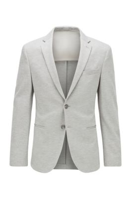 Veste Slim Fit en jersey stretch chiné, Gris