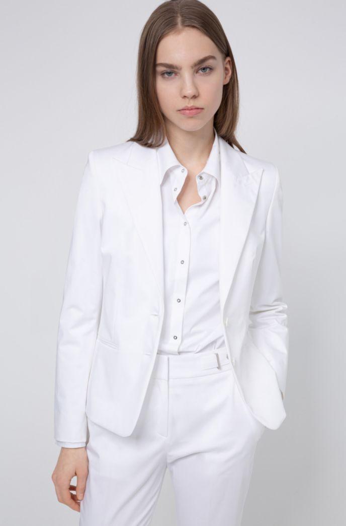 Regular-Fit Blazer aus Stretch-Baumwolle