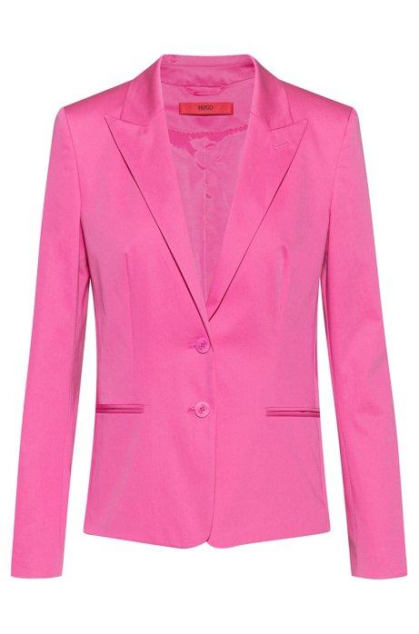 Regular-fit blazer van stretchkatoen, Pink