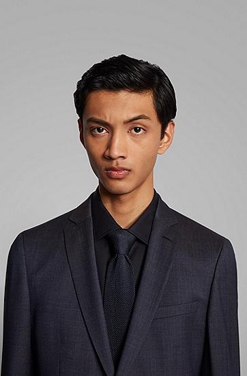 男士混色初剪羊毛超修身西装,  402_暗蓝色