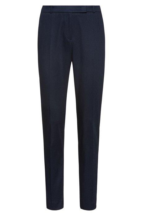 Regular-fit broek van stretchkatoen met Franse zakken, Donkerblauw