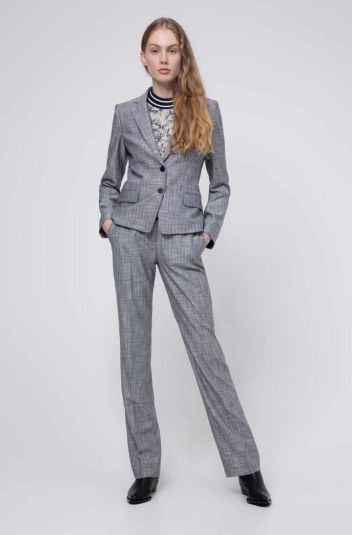 Veste Regular Fit en tissu chiné avec doublure à motif
