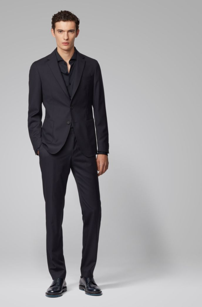 Slim-fit trousers in a washable traceable-wool blend