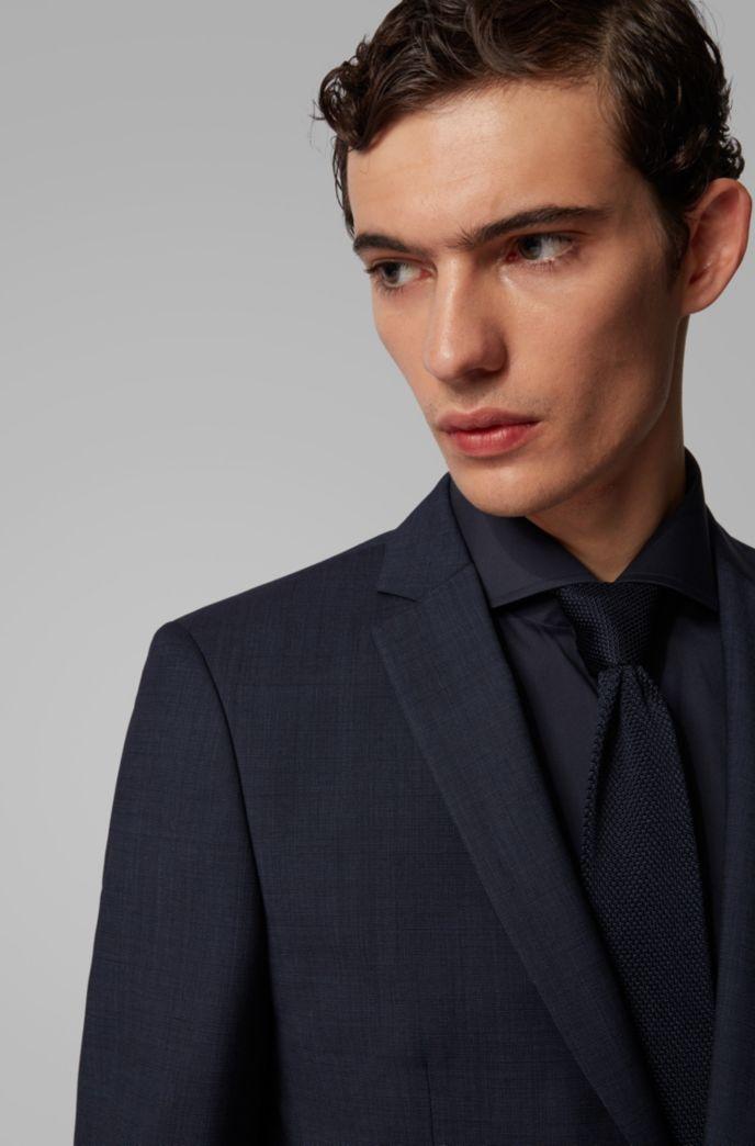 Extra Slim-Fit Anzug aus melierter Schurwolle