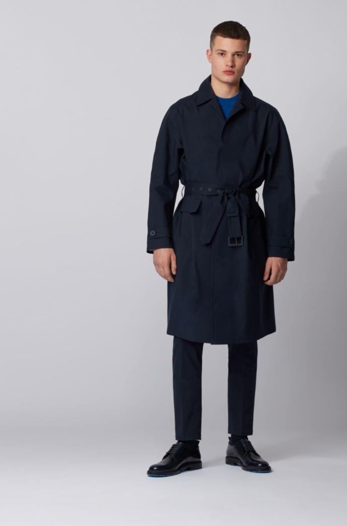 Manteau Relaxed Fit en coton à fermeture invisible