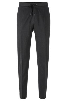 Pantaloni slim fit in misto cotone, Grigio