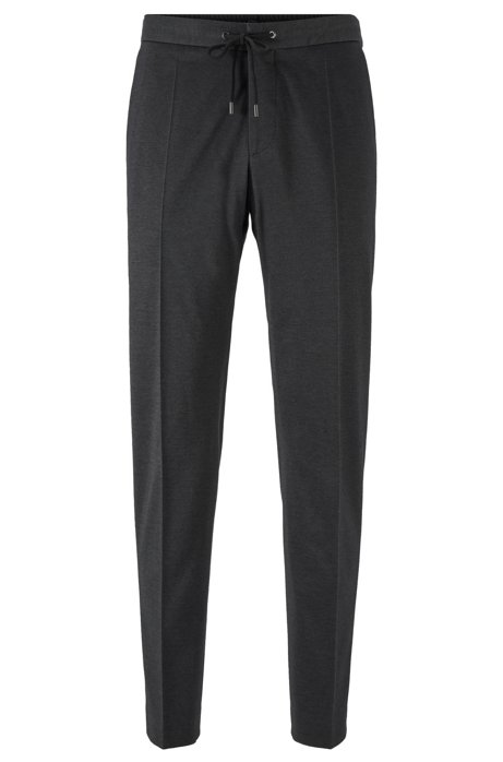 Slim-fit trousers in a cotton blend, Grey