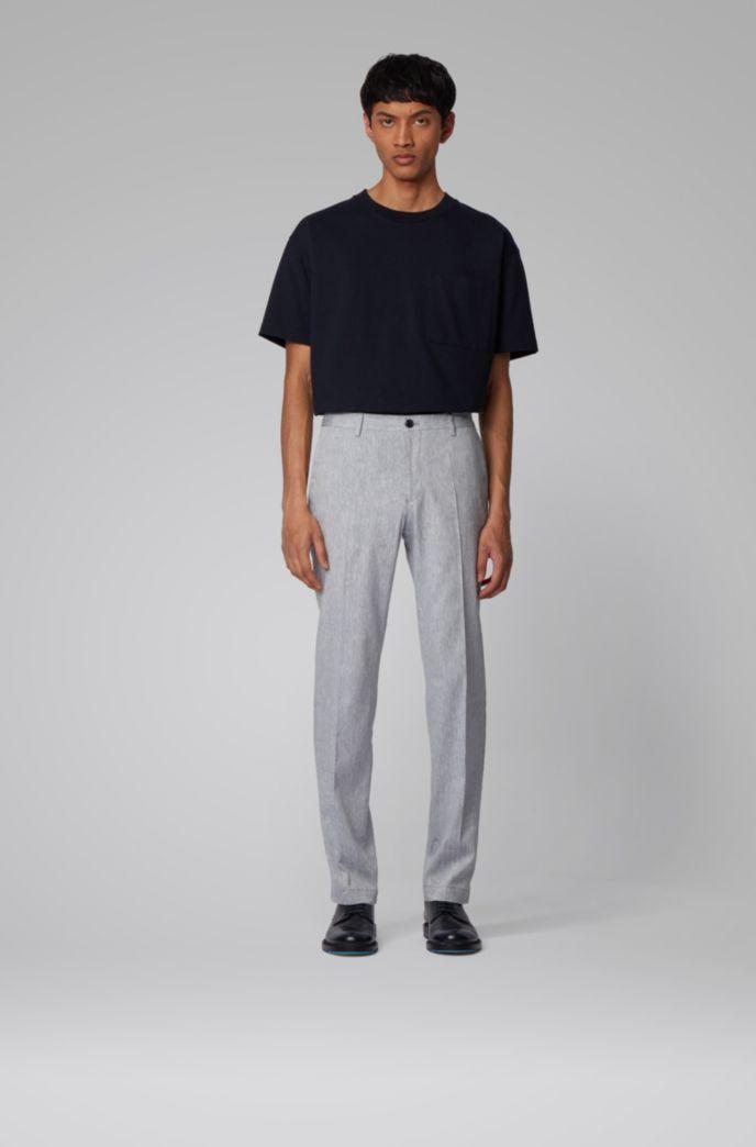 Slim-fit broek in een linnenmix