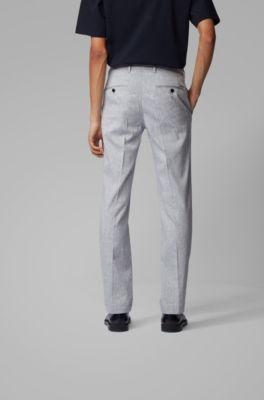 HUGO BOSS Regular-Fit Casual Pantalon Chino Brossé Stretch Coton RRP £ 89