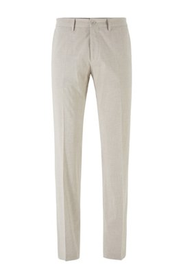Extra-slim-fit trousers in stretch cotton, Light Beige