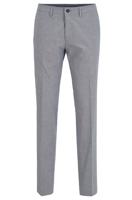 Extra-slim-fit trousers in stretch cotton, Dark Blue