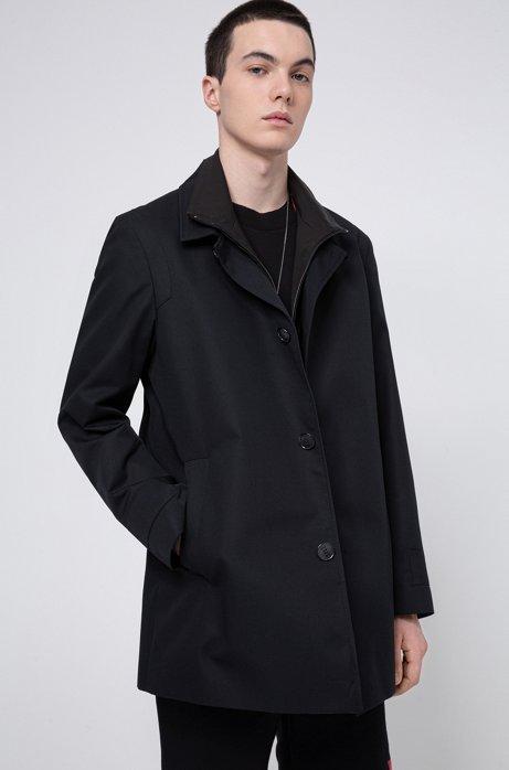 3-in-1-Jacke mit herausnehmbarem Brusteinsatz, Schwarz
