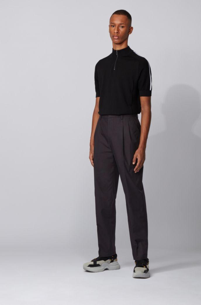 Pantalon Relaxed Fit en coton à la taille haute