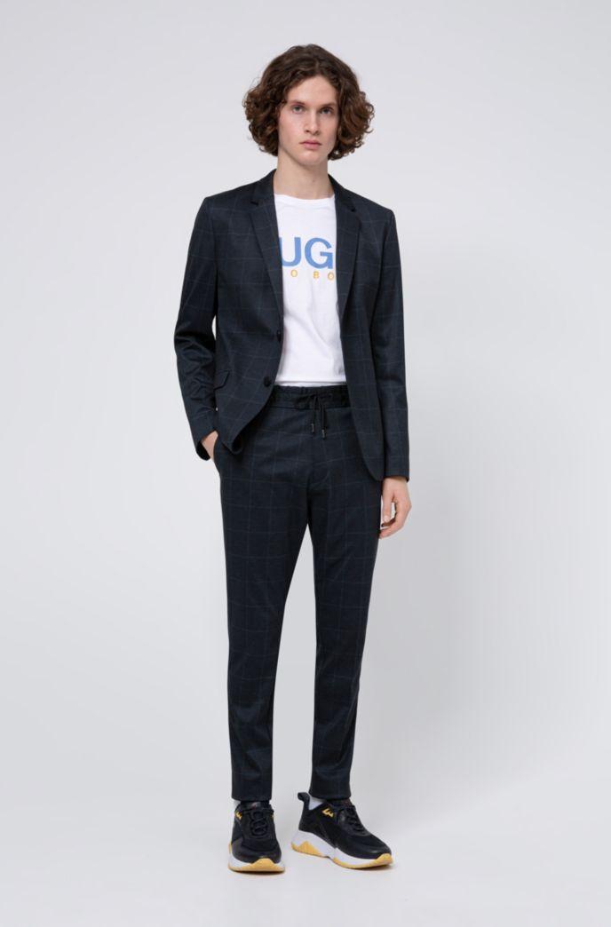 Tapered-Fit Hose aus Stretch-Jersey mit Karo-Print