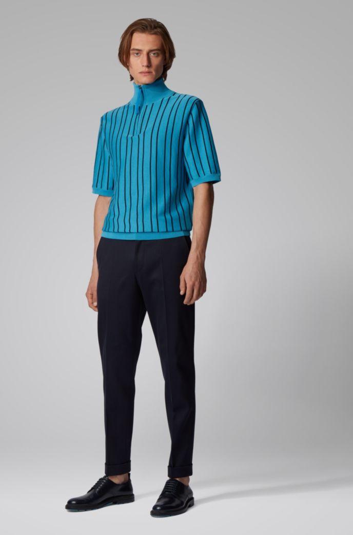 Pantalon Relaxed Fit court en coton à motif