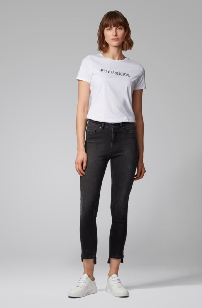 Skinny-Fit Jeans aus Power-Stretch-Denim in Cropped-Länge