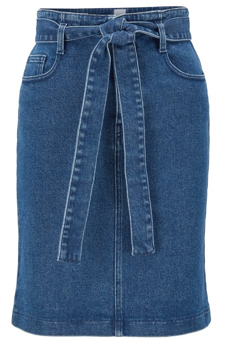 Regular-fit minirok van middenblauw stretchdenim, Donkerblauw