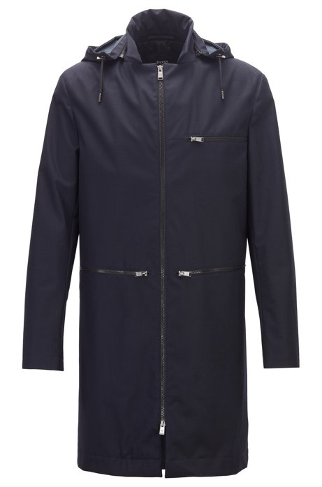 Limited Edition Konstantin Grcic coat in bonded wool, Dark Blue