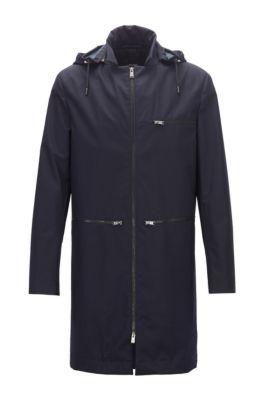 Manteau Konstantin Grcic en laine non tissée, en édition limitée, Bleu foncé