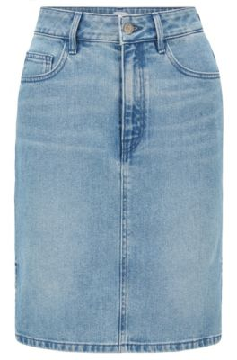Rock aus Stretch-Denim, Blau
