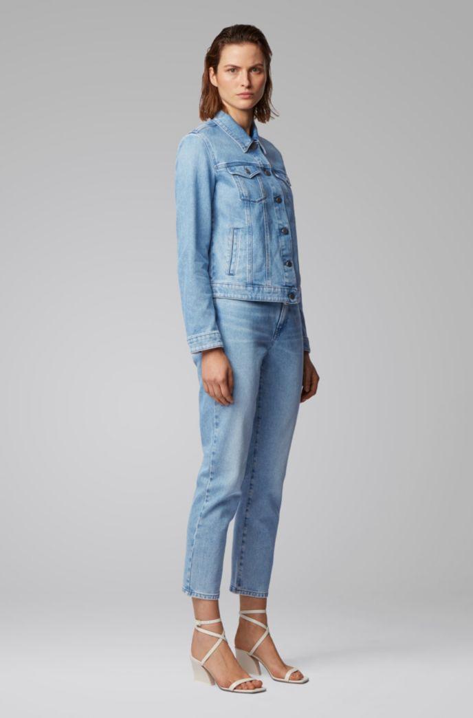 Veste en jean Regular Fit en denim stretch effet délavé