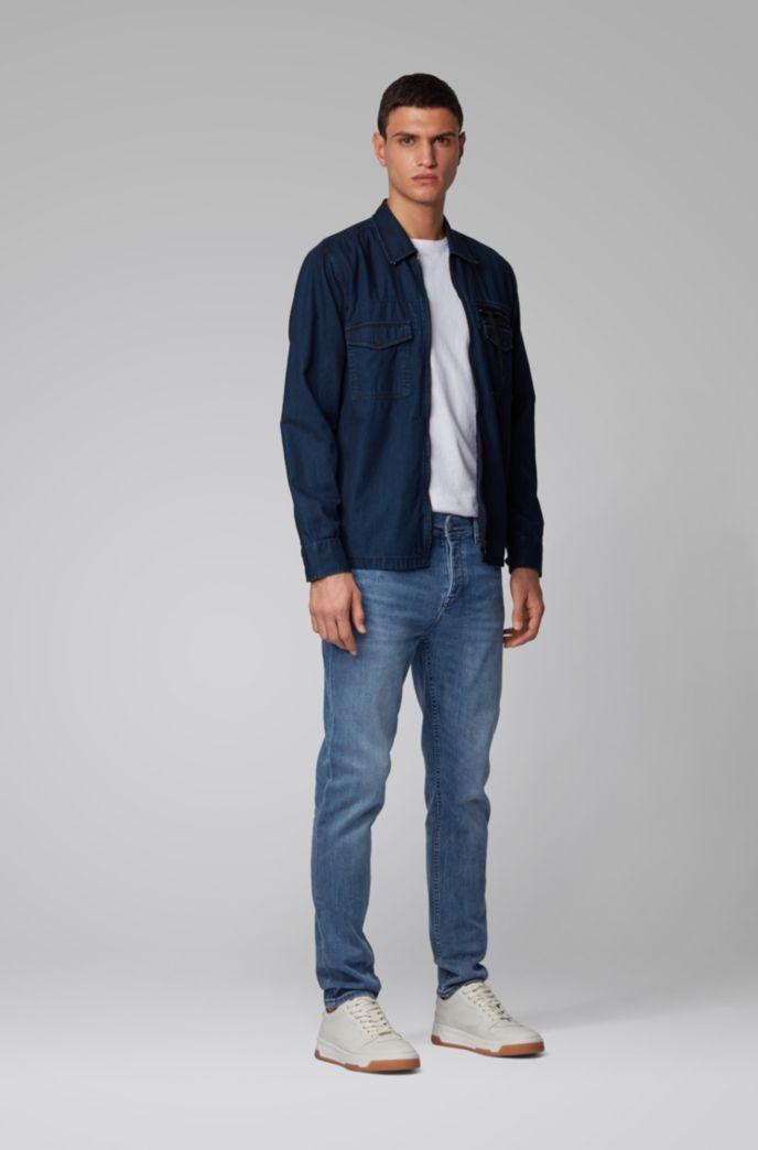 Tapered-Fit Jeans aus elastischem Red-Cast-Denim