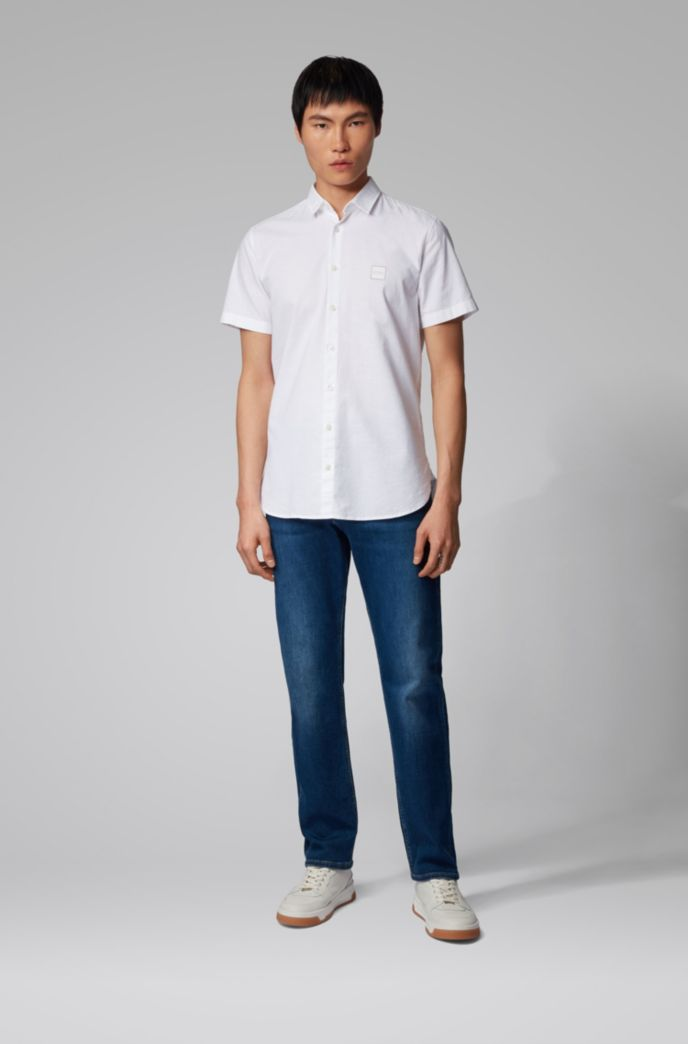 Relaxed-Fit Jeans aus Super-Stretch-Denim