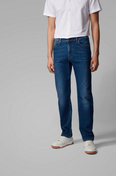 Relaxed-Fit Jeans aus Super-Stretch-Denim, Blau