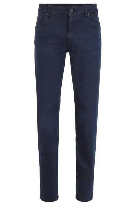 Relaxed-Fit Jeans aus Super-Stretch-Denim, Dunkelblau