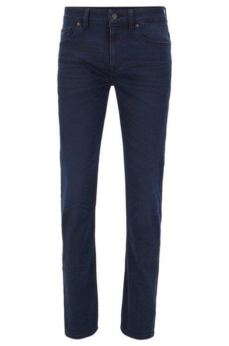 Lightweight slim-fit jeans in dark-blue stretch denim, Dark Blue
