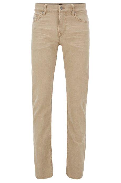 Slim-fit jeans in comfort-stretch denim, Khaki