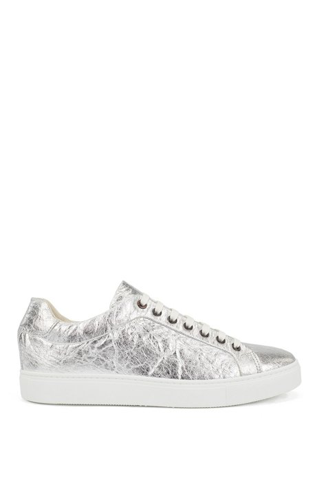 Limited-edition vegan trainers in metallic Piñatex®, Silver