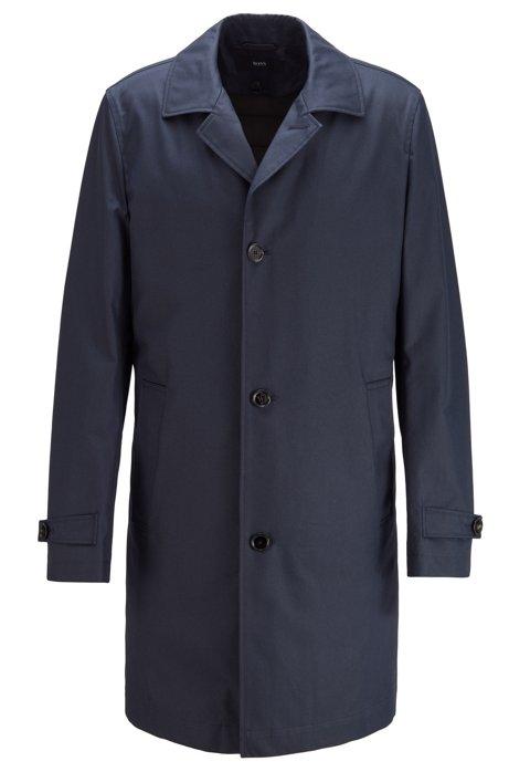 Regular-fit mantel met uitneembare, gevulde voering, Donkerblauw
