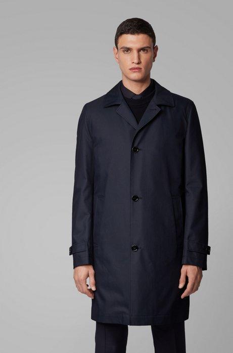 Manteau Regular Fit avec doublure matelassée amovible, Bleu foncé