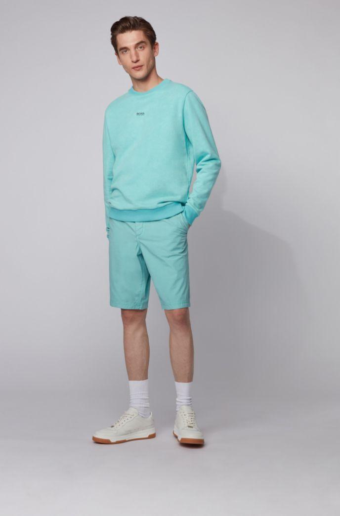 Sweater van sweatstof met acid-wash-effect