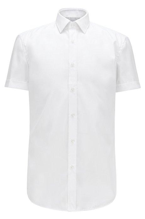 Camisa slim fit en algodón de planchado fácil, Blanco