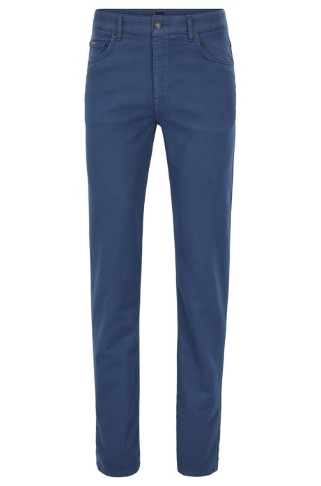 Jeans relaxed fit in denim french terry sovratinto, Blu