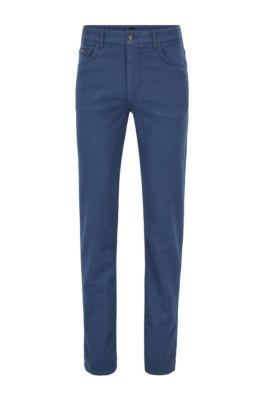 Relaxed-Fit Jeans aus überfärbtem French-Terry-Denim, Blau
