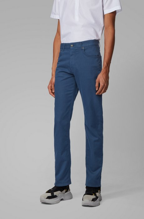 Jean Relaxed Fit en denim molletonné surteint, Bleu