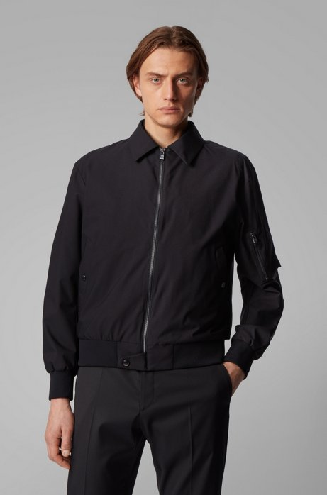 3-in-1 bomber jacket with reversible padded vest, Black