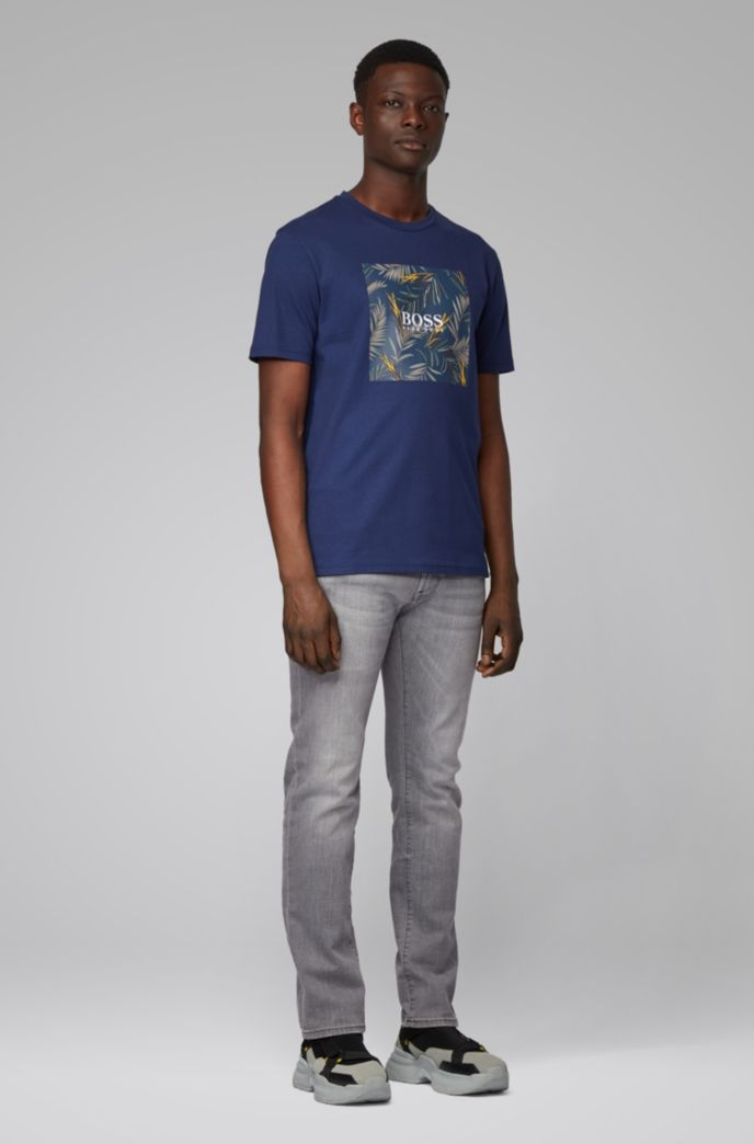 Pure-cotton T-shirt with PVC-free photographic print