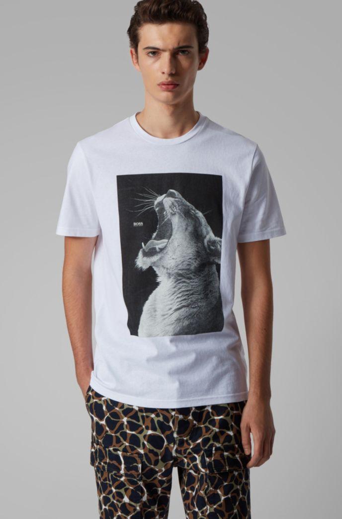 T-Shirt aus Baumwoll-Jersey mit PVC-freiem Tier-Print