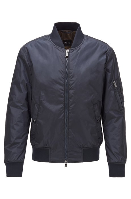 Cazadora bomber regular fit, Azul oscuro