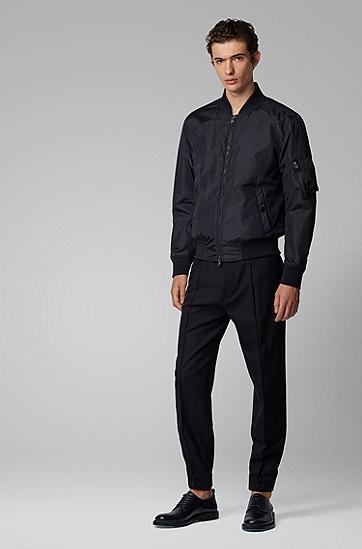 男士常规版型束腰式飞行员夹克,  402_暗蓝色