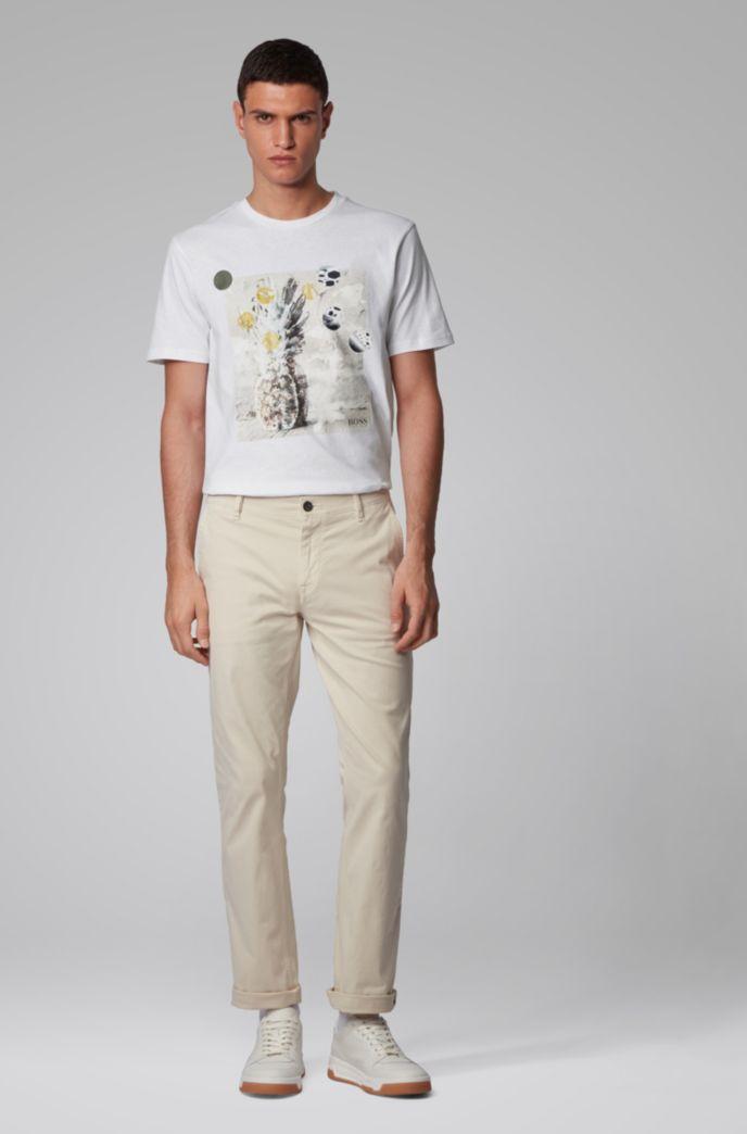 Recycelbares T-Shirt aus reiner Baumwolle mit PVC-freiem Foto-Print
