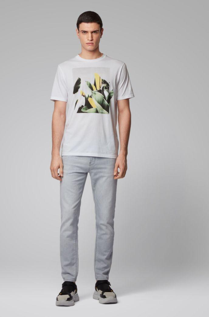 T-shirt à col rond en coton Pima à imprimé photographique
